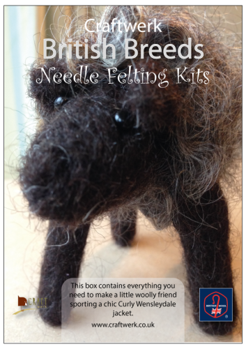 *Needle Felting kit -Black/Brown Sheep
