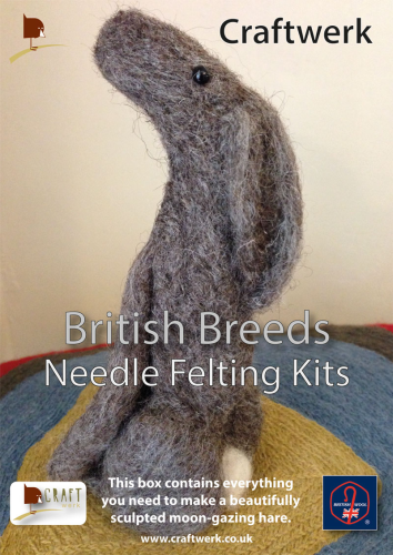 * Needle Felting Kit - Brown Hare